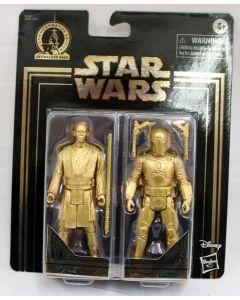 Star Wars Gold Commemorative Edition Mace Windu & Jango Fett 2PK Action Figures