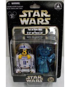 Star Wars Disney Parks LE Pluto & Minnie Mouse as R2-D2 & Princess Leia 1761 of 1977