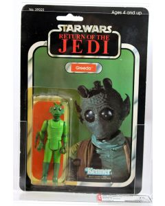 1984 Vintage Kenner Star Wars ROTJ 77Back-A Greedo Made in Spain AFA 75 Y-EX+/NM #11379916