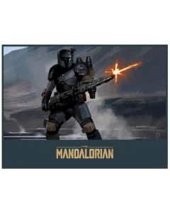 "Licensed Artwork ""Mandalorian Gunner"" by Brian Matyas (Lithograph)"