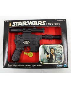 Vintage Star Wars Accessories Boxed Han Solo Laser Pistol (SW Box) - MIB C8