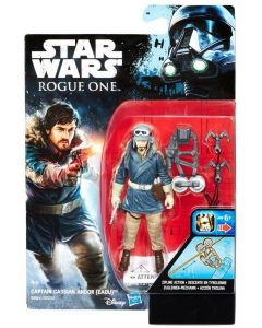 """Rogue One: A Star Wars Story 3.75"""" Carded Captain Cassian Action Figure"""