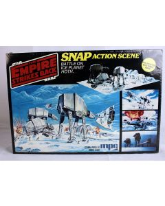 Vintage MPC Star Wars Boxed Playset Battle on Ice Planet Hoth SNAP Model Kit MISB C8