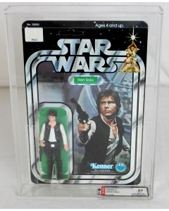 Vintage Star Wars 12 Back-C Han Solo (Large Head) AFA 85 NM+ #8714706 (Archival Case!! )