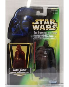 1997 Kenner Star Wars Power of the Force 2 Green Card Darth Vader Retooled Shadows Pose AFA 85+ NM+ #11308972