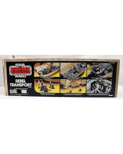 Vintage Star Wars Vehicle Boxed Rebel Transport C7 With C5 Box (Broken Handle, PoP Cut Out)