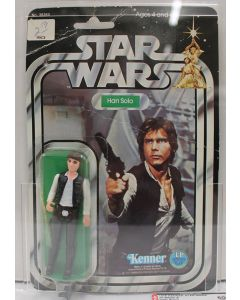 1978 Kenner Vintage Star Wars  20-Back-A Han Solo (Large Head) AFA 50 VG #11003642