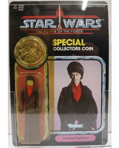 1985 Kenner Vintage Star Wars Power of the Force 92 Back Imperial Dignitary AFA 85 Y-NM+ #11894300