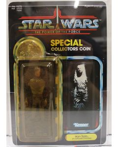 1985 Kenner Vintage Star Wars Power of the Force 92 Back Han Solo Carbonite AFA 80 Y-NM #18350449