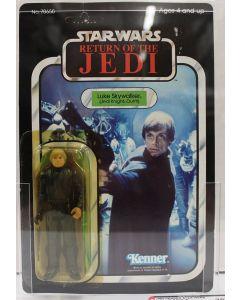 1983 ROTJ Star Wars Vintage Carded Return of the Jedi  Luke Skywalker (Jedi Knight) Cape in Bag AFA 70 Y-EX+ #11521285