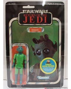 1983 Kenner Vintage Star Wars Return of the Jedi 48 Back Greedo AFA 80+ NM 14984423