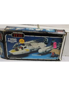 Vintage Star Wars Return of the Jedi Boxed Y-Wing Fighter Vehicle - C7 with C2 Box