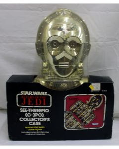 Vintage Star Wars Accessories Boxed C-3PO Carrying Case MISP C4 (Plastic has tear covered by tape)