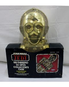 Vintage Star Wars Accessories Boxed C-3PO Carrying Case MISP C5 (Large X written on plastic)