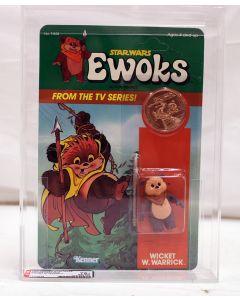 Vintage 1985 Kenner Star Wars Ewoks Cartoon Wicket W. Warrick AFA 75+ #12249438