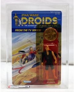 Vintage 1985 Kenner Star Wars Droids TV Series Thall Joben AFA 85 #18081195