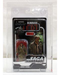 2006 Hasbro Star Wars Vintage Saga Collection Han Solo (Trench Coat) Hasbro Standard Tag AFA 8.0 #27180124