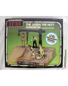 ***Vintage Star Wars Boxed ROTJ Jabba the Hutt Dungeon Playset C9 AFA 85 #12893192***