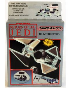 Vintage Star Wars ROTJ Boxed MPC Mirr-A-Kits TIE Interceptor Model Kit // MISB C-9
