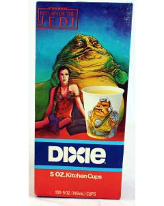 Star Wars Vintage ROTJ Boxed Jabba and Leia Dixie Cups MISB C8
