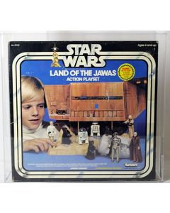 Vintage Star Wars Boxed SW Playset Land of the Jawas (Refund Sticker) AFA 75 #15854658