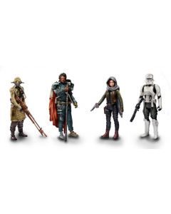 Rogue One: A Star Wars Story Jedha Revolt 4-Pack (Saw Gerrera, Edrio Two Tubes, Jyn Erso (Jedha), Hovertank Pilot)