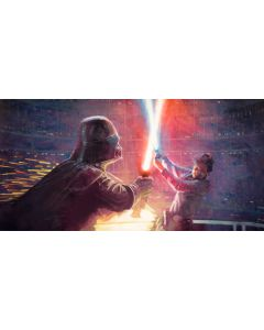 """Licensed Artwork """"Not a Jedi Yet"""" - Giclee on Canvas- (by Christopher Clark)"""