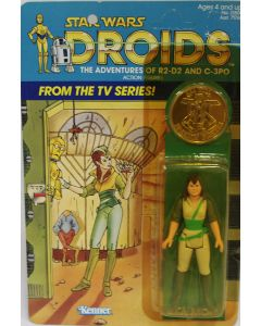 Vintage Star Wars Carded Droids Kea Moll Action Figure // C5Y Hole in Card