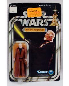 Vintage Star Wars 12 Back-A Carded Ben Kenobi Action Figure C3 (Bubble Lifting & Mold)