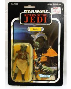Vintage Star Wars ROTJ Carded Klaatu Action Figure C7Y (Small Sticker Tear)