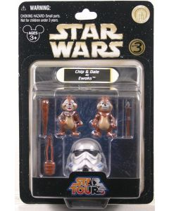 2009 Legacy Collection Exclusive Carded Chip & Dale as Ewoks