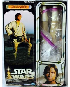 "Vintage Kenner Star Wars 12"" Luke Skywalker Action Figure // C8 w/ C3 Box"