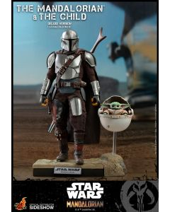 Hot Toys Star Wars Deluxe The Mandalorian and The Child Boxed Set by Sideshow Collectibles
