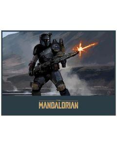 Star Wars Mandalorian Gunner Lithograph | Brian Matyas Unframed Acme Archives Artwork