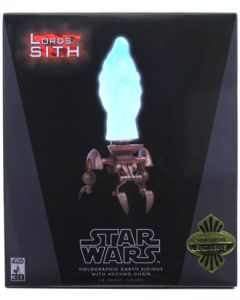 "Sideshow Collectibles 12"" Holographic Darth Sidious with Mechno-Chair (Exclusive)"