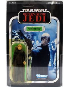 1983 Vintage Kenner Star Wars ROTJ 65 Back-A Luke (Jedi Knight Green Saber) Figure AFA 80Y EX #11287742