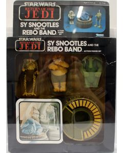 1984 Vintage Kenner Star Wars ROTJ 77 Back Sy Snootles & Rebo Band Action Figure set AFA 70 EX #11613183