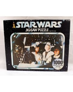 Vintage Star Wars 1000pc Puzzle Boxed Aboard the Millennium Falcon MISB C8