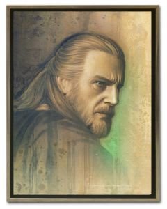 Licensed Artwork Timeless Series Qui-Gon-Giclee on Paper- (by Jerry Vanderstelt)