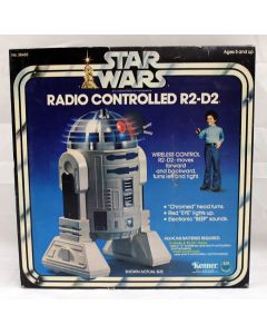 Vintage Star Wars Boxed R/C R2-D2 12-inch Remote Controlled Figure MIB C6 (Slight Discoloration)