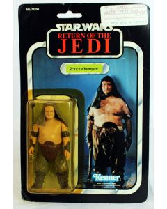 Vintage Star Wars Carded ROTJ Rancor Keeper Action Figure C-8Y