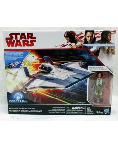 Star Wars Force Link Resistance A-Wing Fighter Vehicle and Resistance Pilot Tallie Figure