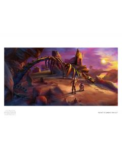 """Licensed Artwork """"Road to Jabbas Palace"""" - Canvas (by Guy Vasilovich)"""