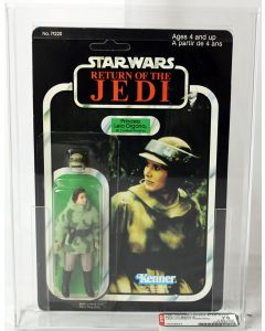 Vintage Star Wars ROTJ 77 Back-A Princess Leia (In Combat Poncho) Action Figure AFA 75 Y-EX+/NM #19338632
