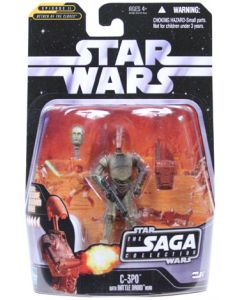 Saga 2 Carded C-3PO (Battle Droid Head On Body)