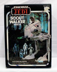 Vintage Star Wars Vehicles Boxed Scout Walker (ROTJ Box) - MIB C5
