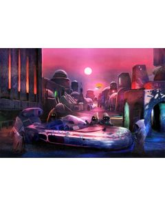"""Licensed Artwork """"You'll Have to Sell Your Speeder"""" - Giclee on Canvas- (by Ryan Payne)"""