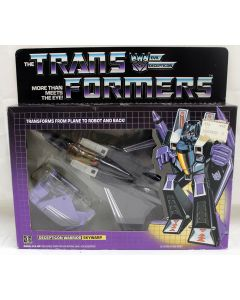 1984 Hasbro Vintage Transformers G1 Skywarp // C9 with C8 Box (Decals Unapplied)