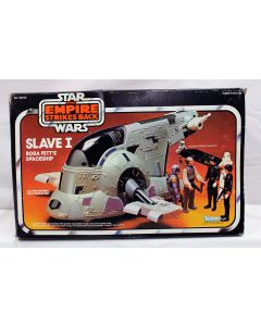 Vintage Star Wars Vehicles Boxed Slave I C8.5 with C5 Box (Missing Han Carbonite)