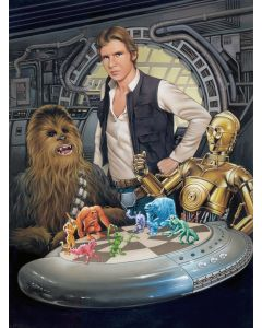 """Licensed Artwork """"Let the Wookiee Win"""" - Canvas (By Dave Nestler)"""